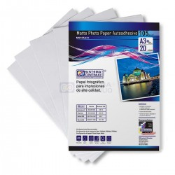 Papel Photo Matte Autoadhesivo 105gr A3+ x 20 Hojas