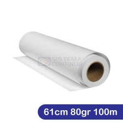 Papel Obra Sin Coating Rollo 61cm 80gr 100mts