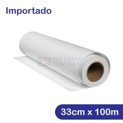 Rollo Papel Sublimacion 100gr 33cm x 100mts